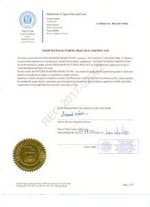 Сертификат на продукцию НСП GMP-2017